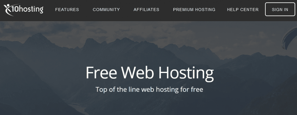 X10hosting - Hosting gratuito